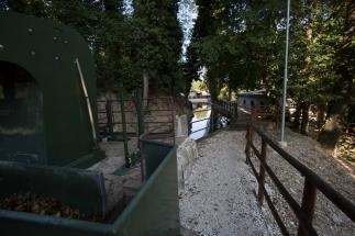 parte finale del sentiero che costeggia la deviazione del fiume Musone