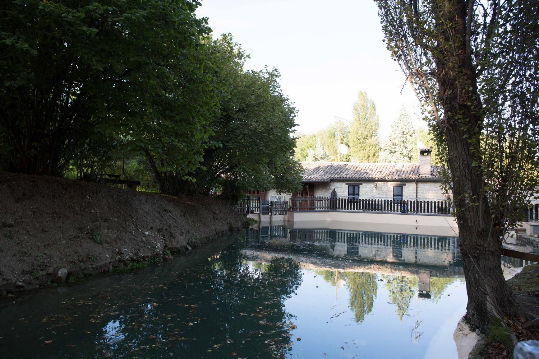 parte finale della deviazione del fiume Musone: la 'paratia'